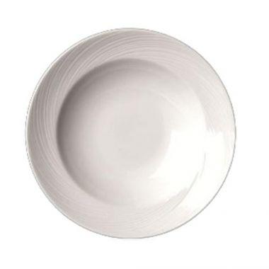 Steelite® Spyro Rimmed Soup Plate, White, 12 oz (2DZ) - RFS066/9032C989