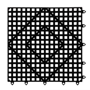 """San Jamar® Versa Mat® Interlocking Bar Mat, Black 12"""" - RFS702/VM5280BK"""