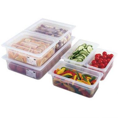 "Cambro® Camwear® Food Pan, 1/2 Size, Translucent, 4"" Deep  - RFS025/24pp190"