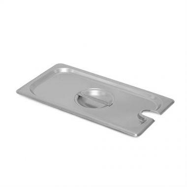 """SignatureWares""""¢¢ Slotted Stainless Steel Steam Table Pan Cover w/ Handle, 1/3 Size  - RFS5000/STEAMPAN130CS"""