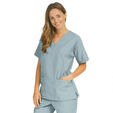 Gold + Cross™ Unisex 65/35 Cotton/ Polyester Reversible Scrub Set, Misty Green