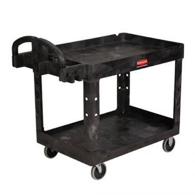 Rubbermaid® Heavy-Duty Utility Ergo Handle Utility Cart, Black, 500lb- RFS152/FG452088BLA