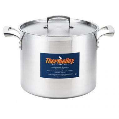 Browne® Thermalloy Stainless Steel Stock Pot, 24 Qt - RFS016/5723924