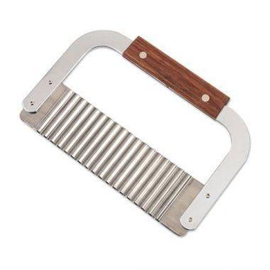 "Browne® Stainless Steel Garnish/Serrator, 7"" x 2"" - RFS016/574309"