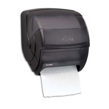 San Jamar® Integra Lever Roll Towel Dispenser, Black Pearl - RFS702/t850tbk
