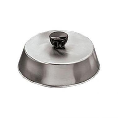 "American Metalcraft® Basting Cover w/Black Knob, S/S, 7.5""  - RFS035/BA740S"