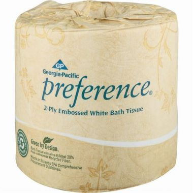 Georgia Pacific Preference 2 Ply Embossed Bath Tissue, 40 Rolls/Case