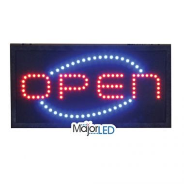 "Flanagan Agencies® Open Sign, LED, 18.5"" x 9"" x 3"" - RFS585/10-SG-0003"