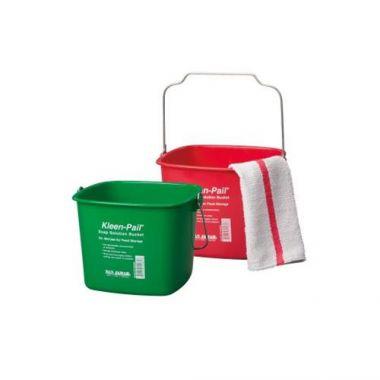San Jamar® Kleen-Pail® Sanitizer Bucket, Red, 10 Qt - RFS702/KP320RD