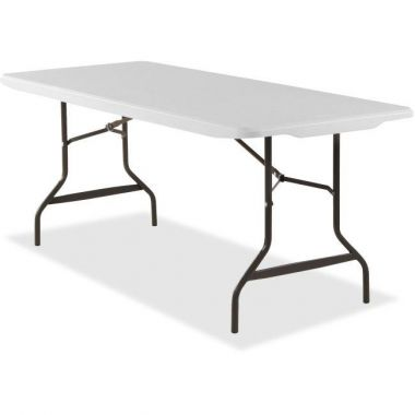 "Lorell Banquet Table, Rectangular, 500 lb Cap., 96""x30""x29"", Platinum White"