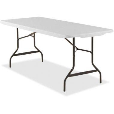 """Banquet Table, Rectangular, 500 lb Cap., 30"""" x 72"""" x 29.0"""" - Steel - Platinum White"""