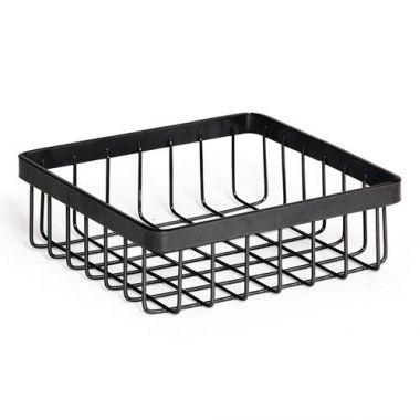 G.E.T.® Square Wire Basket, Metallic Gray - RFS689/WB-662-MG