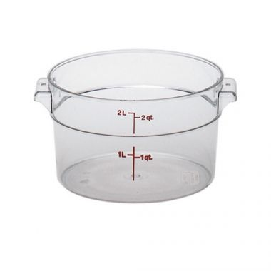 Cambro® Camwear Round Container, Clear, 2 Qt - RFS025/RFSCW2135