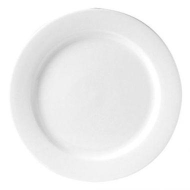 """Steelite® Monaco Flat Rim Plate, White, 9"""" (2DZ) - RFS066/9001C303"""