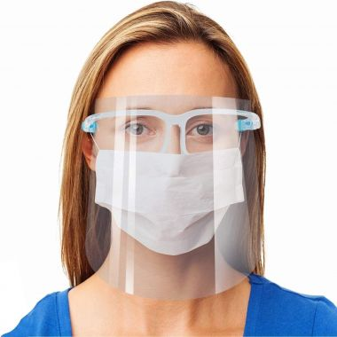 Safety Face Shield, 10 Pack Reusable Goggle Shield Face Visor Transparent Anti-Fog Layer Protect Eyes from Splash