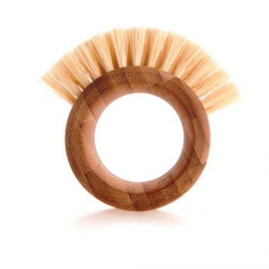 Full Circle® THE RING Vegetable Brush, Bamboo - RFS055/3409106NA