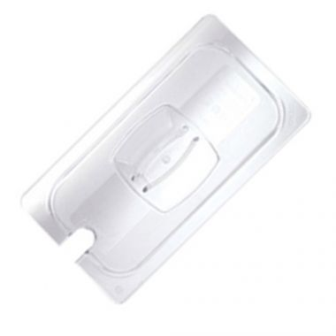Cambro® Camwear Notched Pan Cover w/Handle, Clear, 1/9 Size - RFS025/90CWCN135