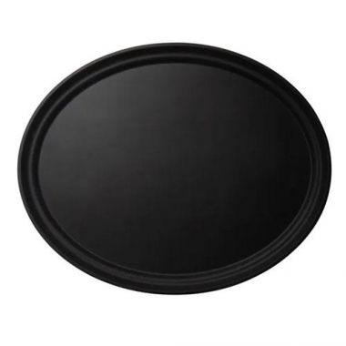 "Cambro® Camtread® Oval Tray, Black, 23"" x 29"" - RFS025/2900CT110"