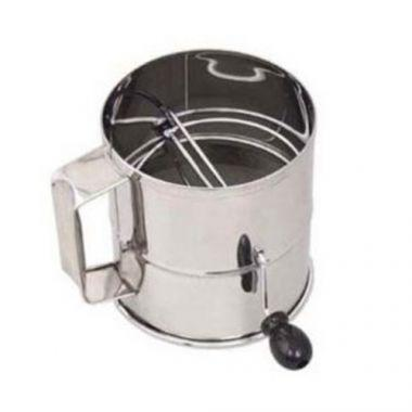Browne® Stainless Steel Rotary Flour Sifter, 8 Cup - RFS016/1260