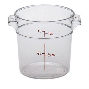 Cambro® Camwear Round Container, Clear, 1 Qt - RFS025/RFSCW1135