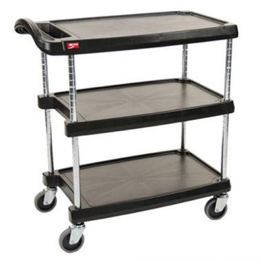 Metro® Utility Cart, Black, 18-5/16W x 31-1/2L x 35-1/2H- RFS117/MY1627-34BL