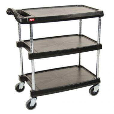 """Metro® Utility Cart, Black - 23-7/16""""W x 34-3/8""""L x 35-1/2""""H- RFS117/MY2030-34BL"""