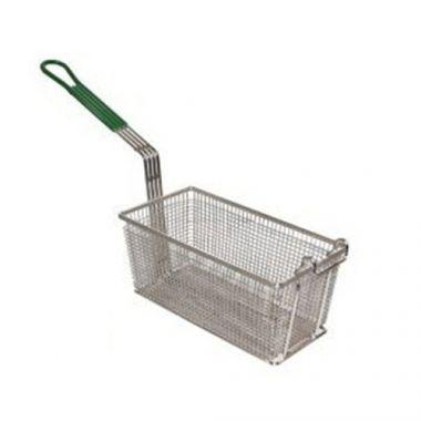 "Prince Castleâ""¢ Frequent Fryer Basket w/Coated Green Handle, (5/CS) - RFS466/78-P"