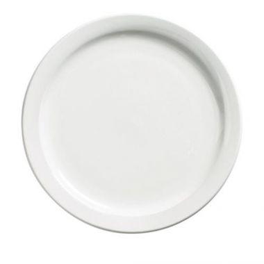 "Browne® Palm Ceramic Dinner Plate, White, 10.4"" - RFS016/563966"
