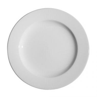 "Continental® Polaris Plain White Wide Rim Plate, 9"" - RFS674/55CCPWD302"