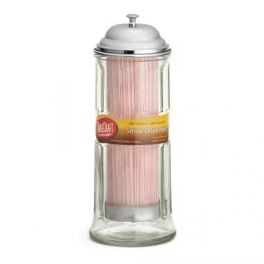 Tablecraft® Glass Straw Dispenser - RFS558/H714CH