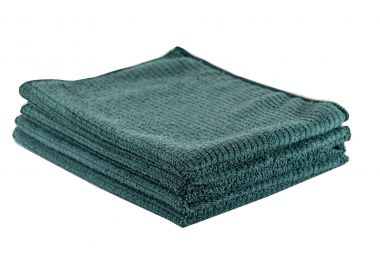 Ribbed Microfiber Bar Mop Towels, Green