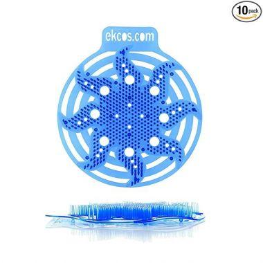 "Diversey Power Screen PWR-3B-10 Diversey 30 Day Premium Anti-Splash Urinal Screen and Deodorizer - Fits Most Top Urinal Brands, 8"" x 7"" Blue/Fresh (10 Pack)"