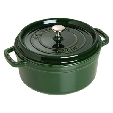 Staub® Round Cocotte, Basil Green, 5 Qt - RFS003/40509-358, Free Shipping in Canada. Shop Linen Plus