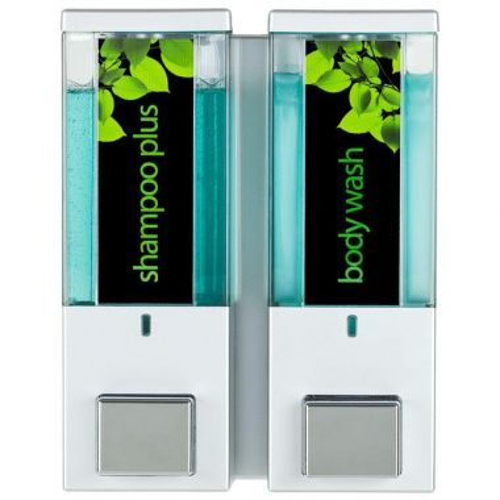 iQon Two Chamber Dispenser Translucent Satin Silver