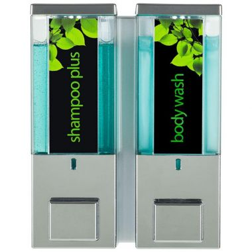 iQon Two Chamber Dispenser Translucent Chrome (86244)
