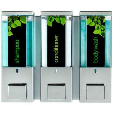 iQon Three Chamber Dispenser Translucent Chrome