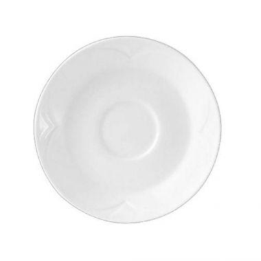 "Steelite® Bianco Single Well Saucer, White, 6"" - RFS066/9102C418"
