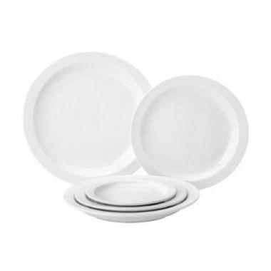 "Tableware Solutions® Pure White Narrow Rim Plate, 9"" - RFS674/PW E13023"