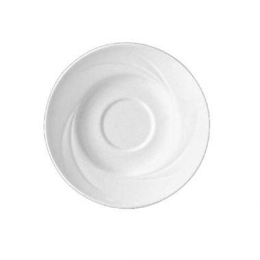 """Steelite® Alvo Single Well Saucer, White, 6"""" (3DZ) - RFS066/9300C518"""