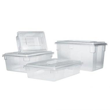 """Rubbermaid® Food/Tote Box 18"""" x 12"""" x 6"""" D, Clear - RFS152/FG330900CLR"""