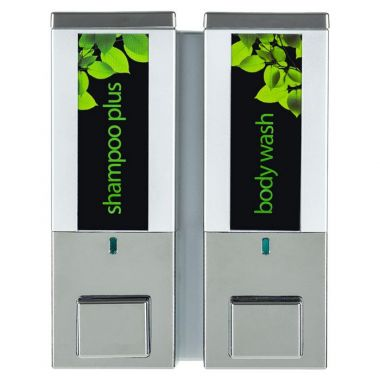 iQon Two Chamber Dispenser Solid Chrome Satin Silver