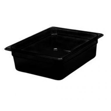 "Cambro® High Heat H-Pan, Black, 1/2 Size 6"" Deep- RFS025/26hp110"