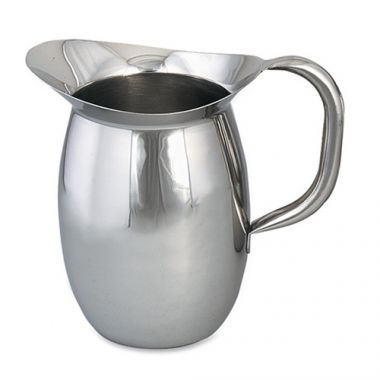 Browne® Stainless Steel Bell Shaped Pitcher w/ Guard, 68 oz - RFS016/8202G