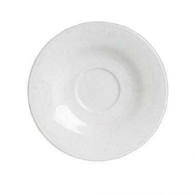 "Steelite® Concerto™ Bouillon Cup Saucer, White, 6.125"" (2DZ) - RFS066/6306P771"