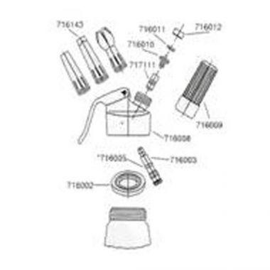 Browne® Aluminum Cream Dispenser w/ Star Nozzle, 0.5L  - RFS016/574355-3