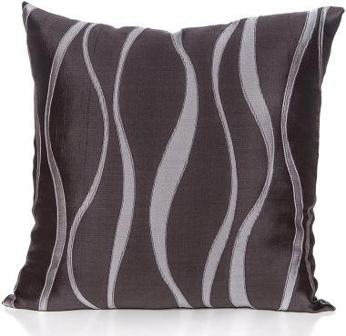 Gouchee Design Belgium Cushion Size 20x20 Feather Filled Charcoal