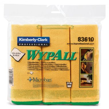 WYPALL Microfibre Cloths, Yellow, Pack of 6