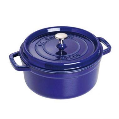 Staub® Round Cocotte, Dark Blue, 5 Qt - RFS003/40510-284, Free Shipping in Canada. Shop Linen Plus