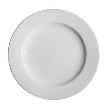 "Continental® Polaris Plain White Wide Rim Plate, 11.5"" - RFS674/55CCPWD102"