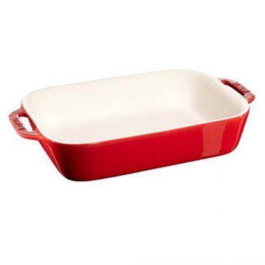 Staub® Rectangle Dish, Cherry, 27x20cm - RFS003/40510-809